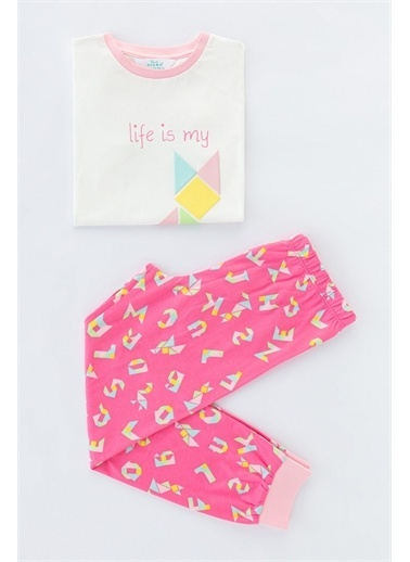 Penti Çok Renkli Kız Çocuk Tangram  2Li Pijama Takımı Renkli